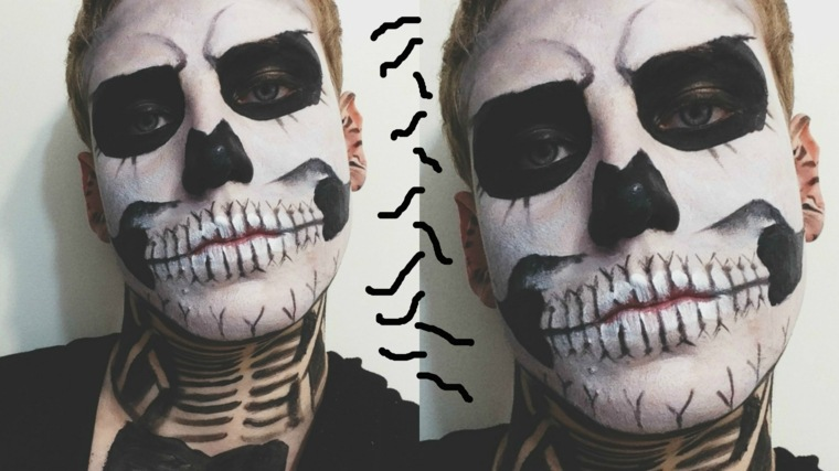 cara chico maquillaje halloween