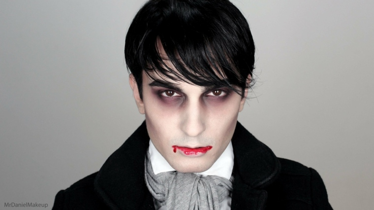 maquillaje vampiro boca sangrienta
