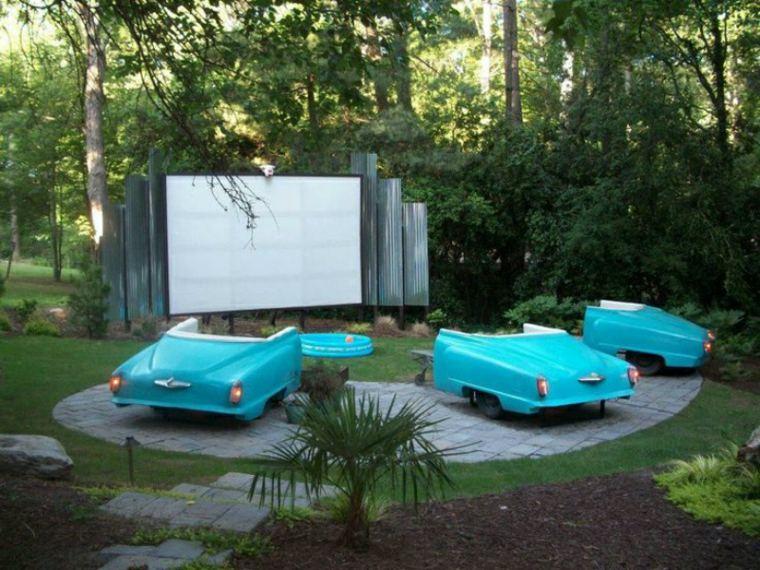 cinema carros fragmentos azules paneles
