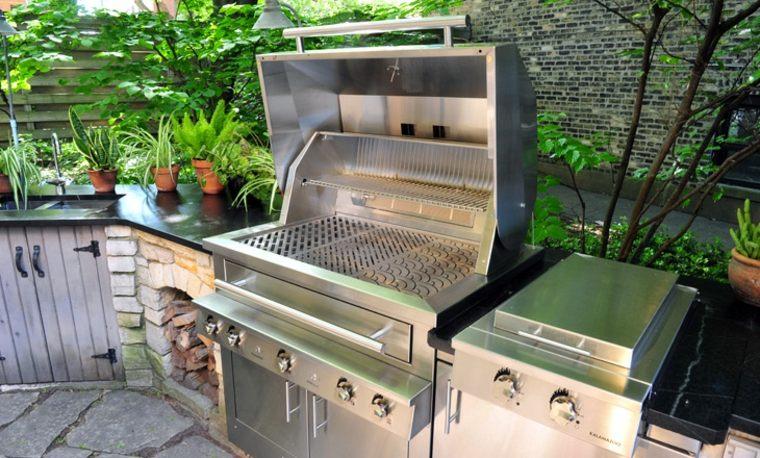cocina acero inoxidable jardin