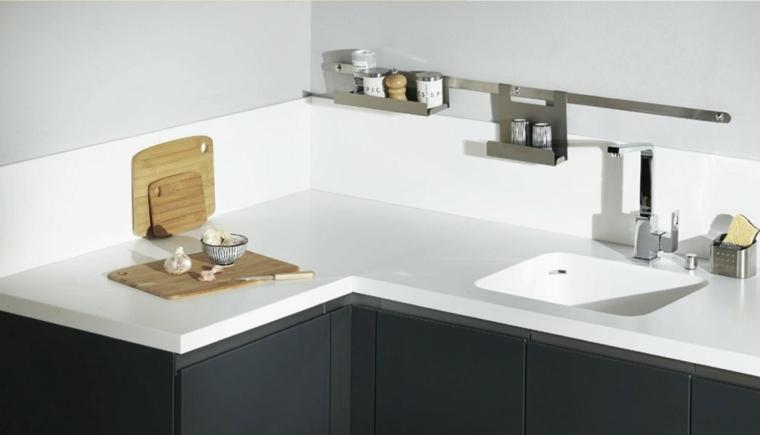 cocina moderna encimeras solidas