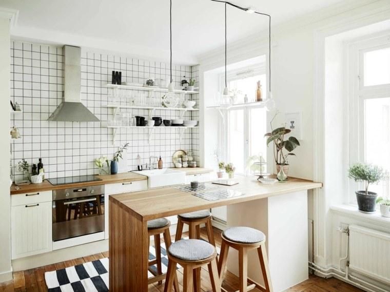 cocina pequeña diseño estilo escandinavo