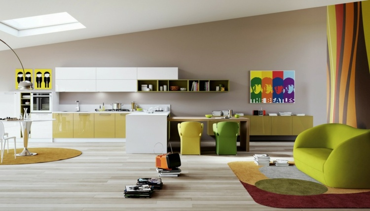 cocinas colores cuadros paredes efectos
