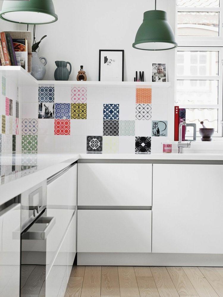 cocinas colores ideas estilos estantes
