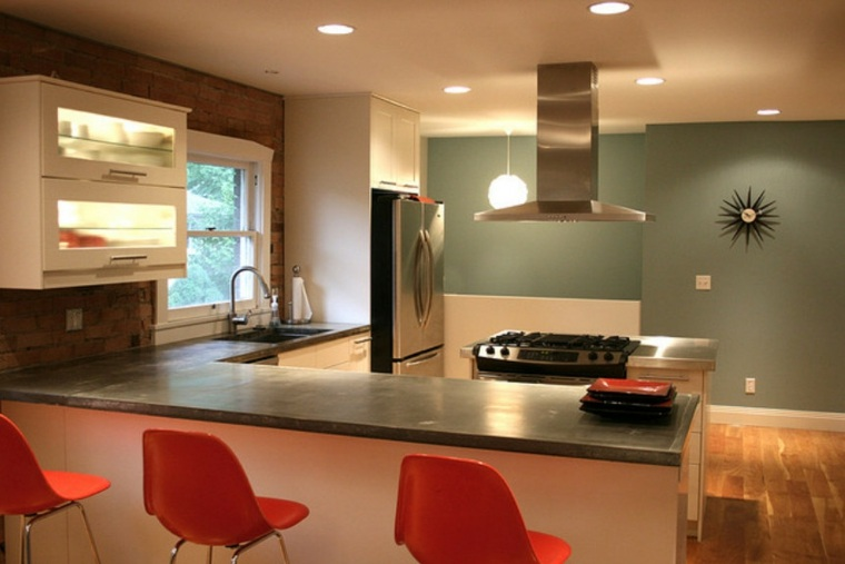 Cocinas con barra para nuestro hogar - Cocinas pequenas con barra ...