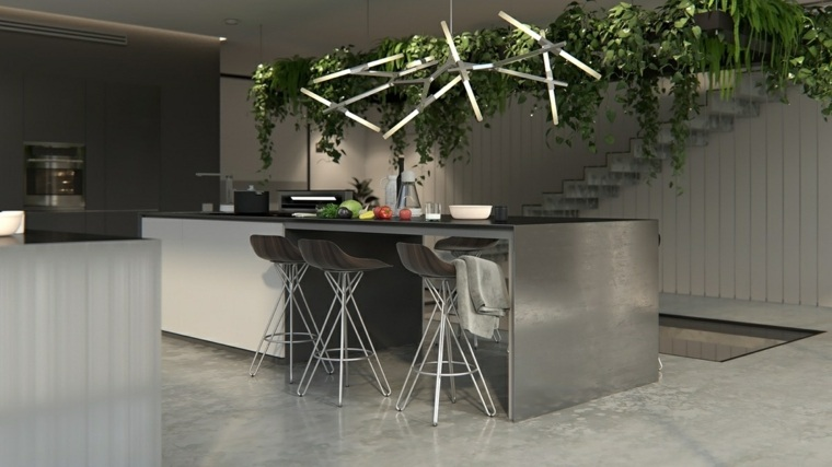 cocinas diseños fuentes salones lamparas