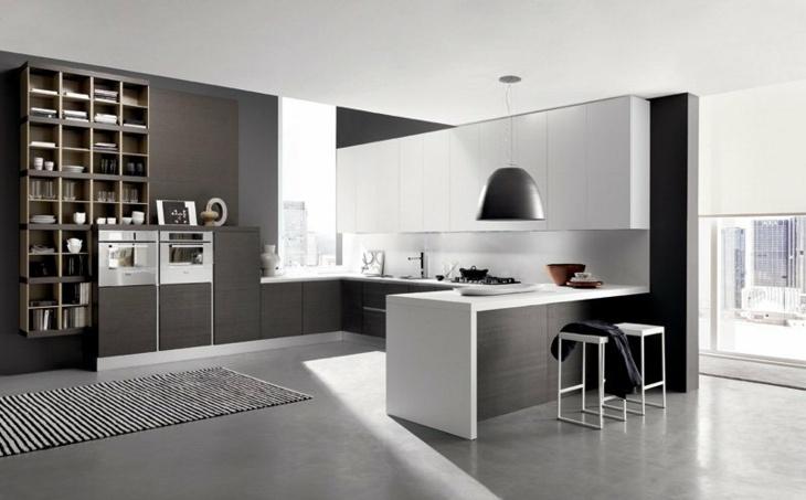 Cocinas diseños increíbles contrastanto el color blanco