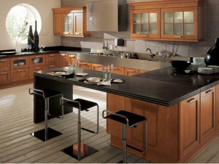 Cocinas con barra para nuestro hogar for Cocinas integrales con isla al centro