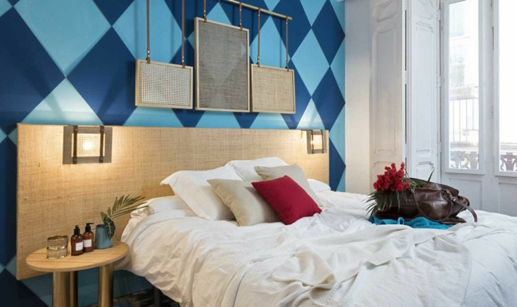 decorar paredes ideas graficos materiales pared rojo