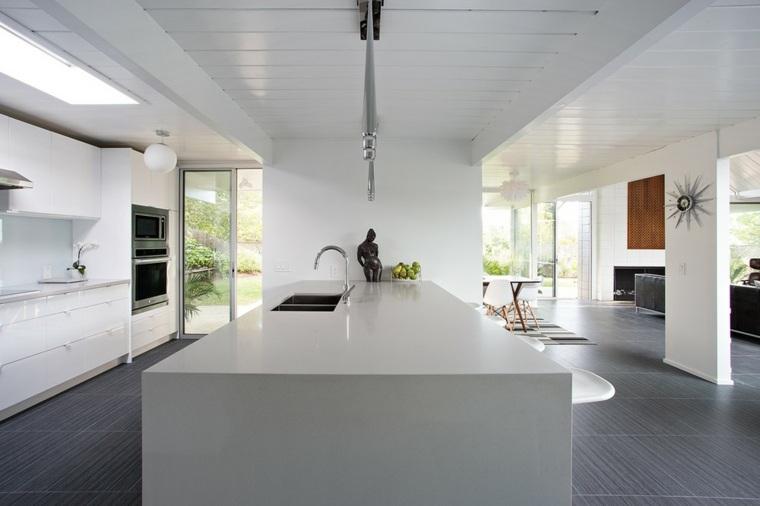 color gris modernas cocinas modernas