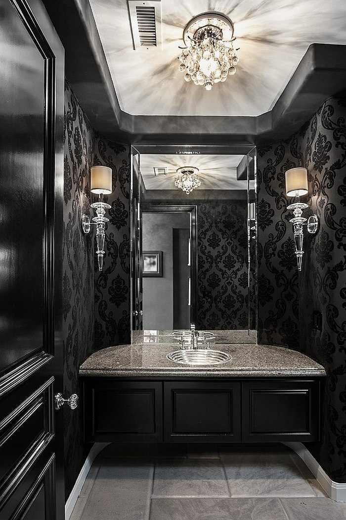 color negro diseño candelabros salones lineas