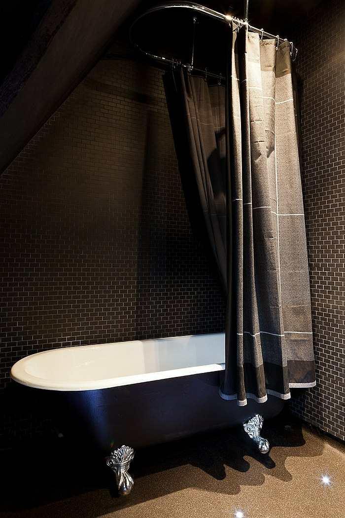 color negro diseño cortinas muebles materiales