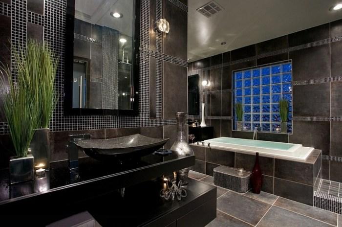 Decoracion De Baños Tradicionales:Color negro diseño elegante para baños modernos y tradicionales