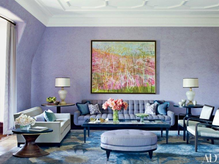 colores pastel lila lavanda salón