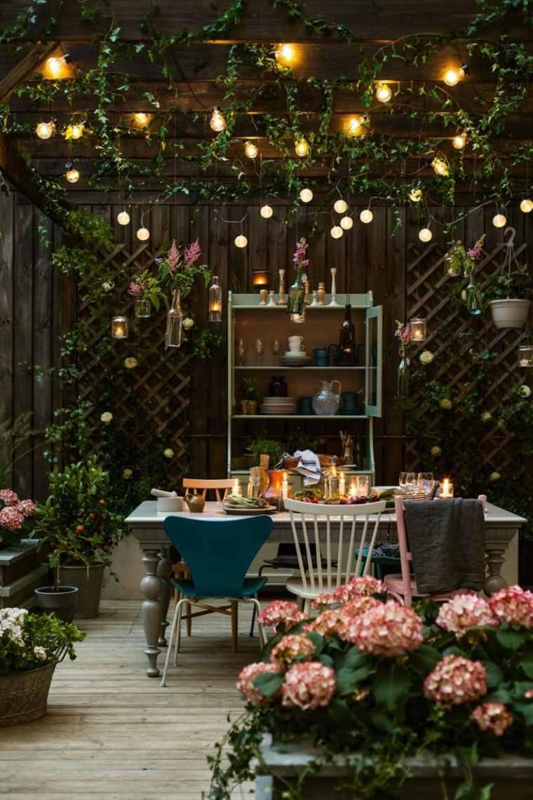 comedores aire libre zonas luminarias