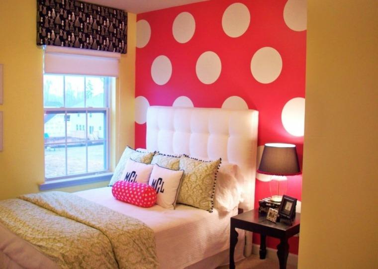 cómo decorar una habitación de chica círculos