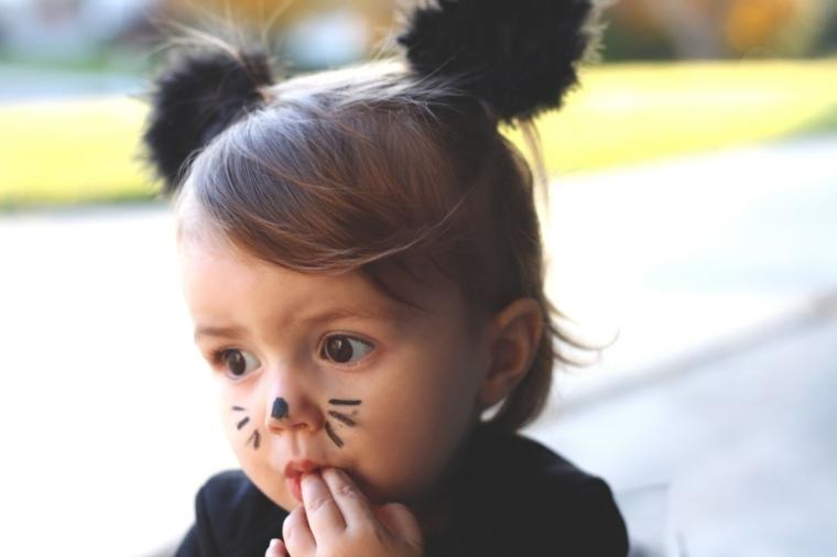 cómo maquillar a un niño para halloween disfraz