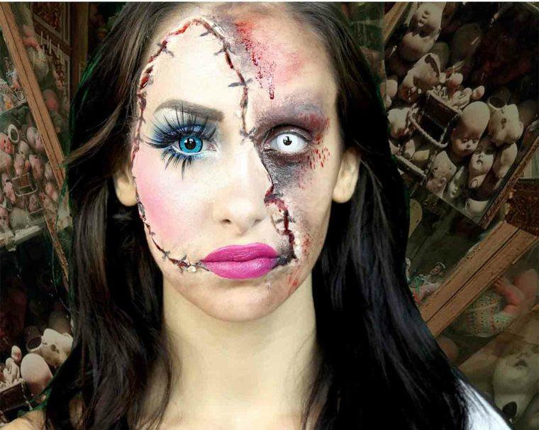 Maquillaje de bruja para halloween - Como maquillarse de zombie ...