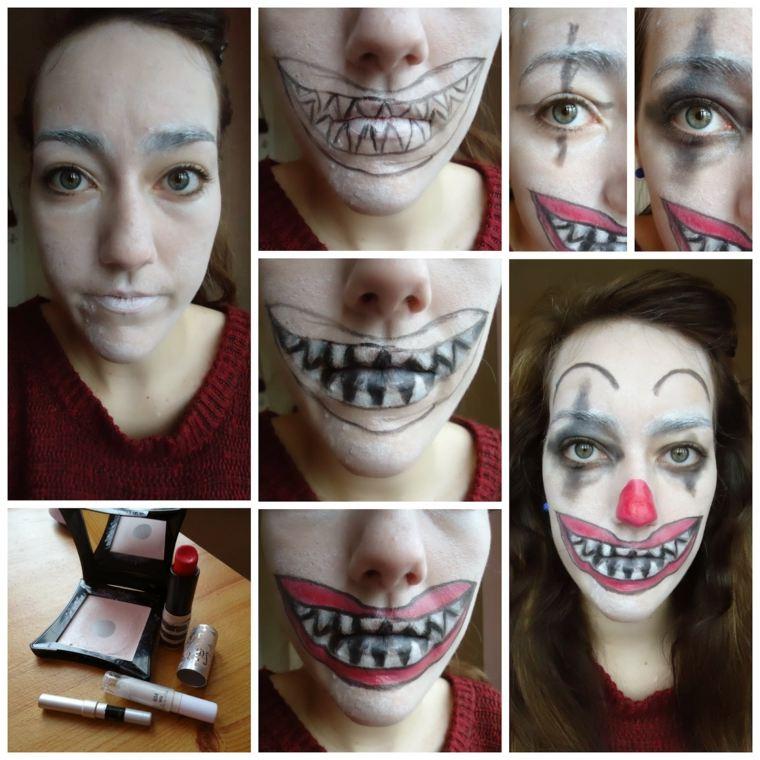 cómo maquillarse en halloween payaso