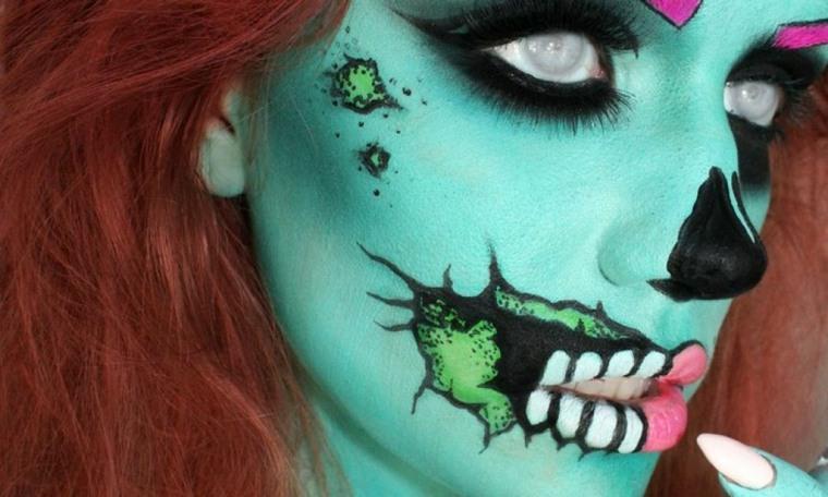 cómo maquillarse para halloween verde