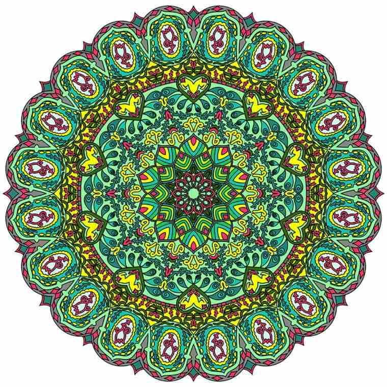 cómo pintar mandala color verde