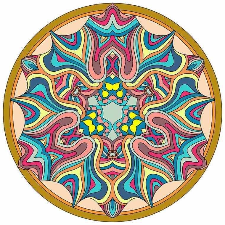 cómo pintar mandala colores vivos