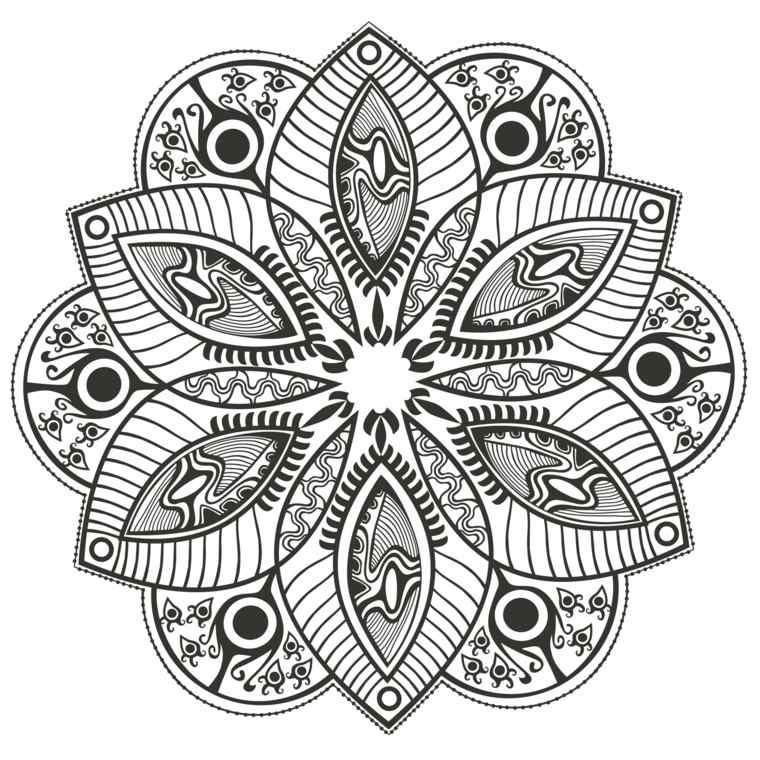 cómo pintar mandala flores