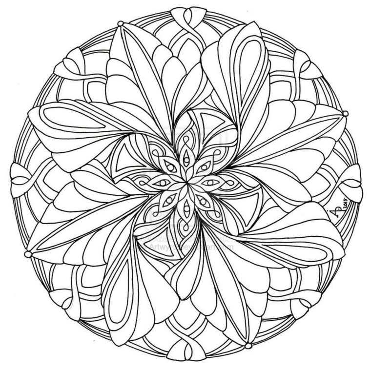cómo pintar mandala forma fácil