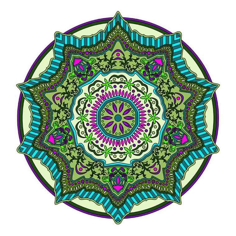 cómo pintar mandala verde