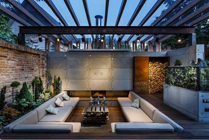 conceptos patios fuentes diseño salas