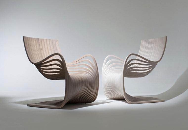 conjunto originales sillones madera