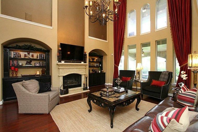cortinas para salón clásico