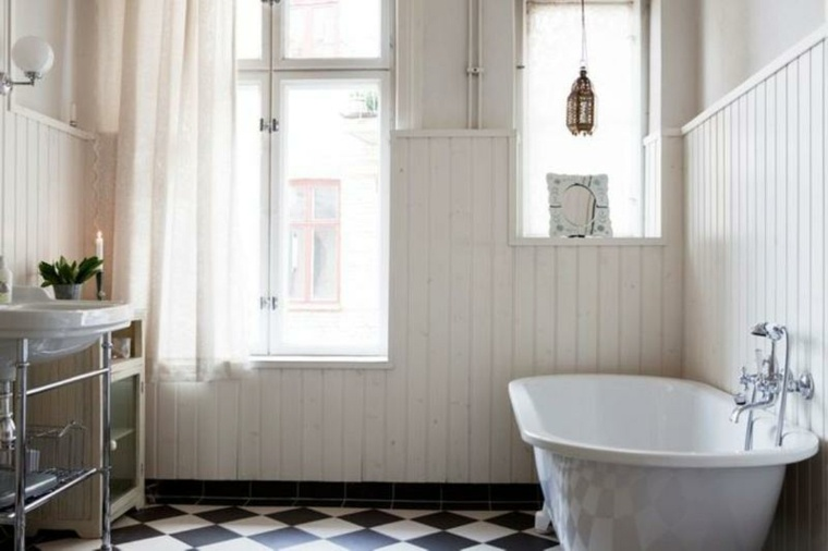 cuarto baño retro escandinavo