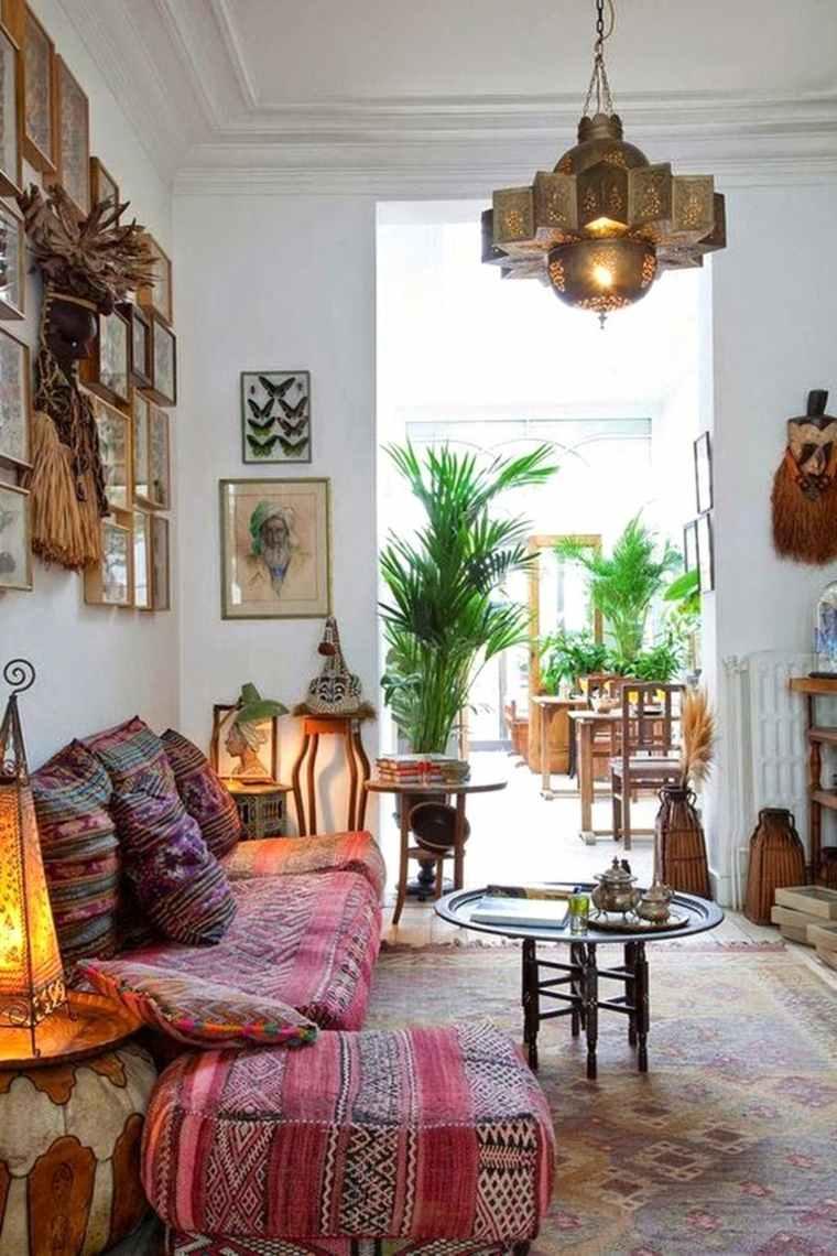 decoración interior boho etnico