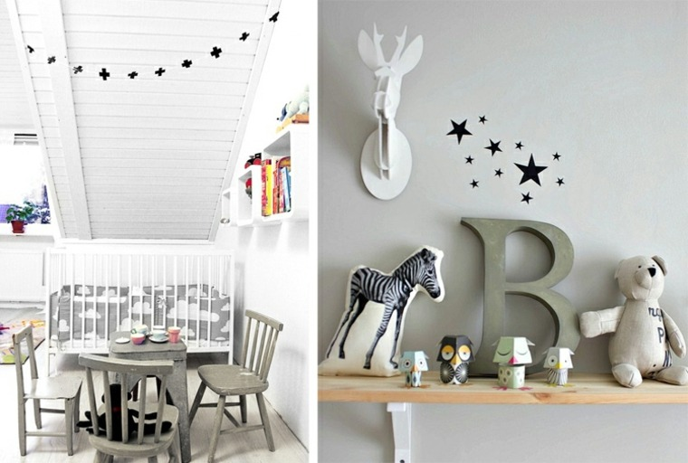 decoración habitacion nordica boho