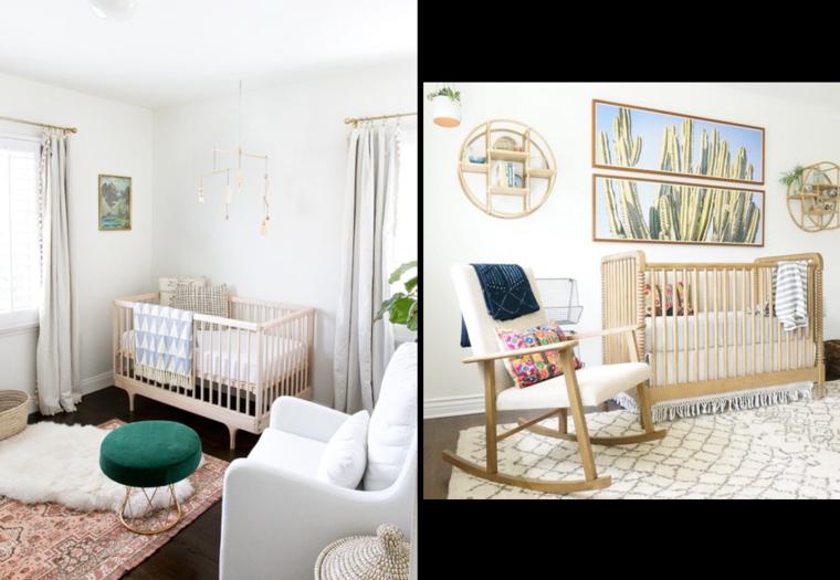 Dormitorios para ni os de estilo boho chic 24 ideas nicos - Habitacion bebe original ...