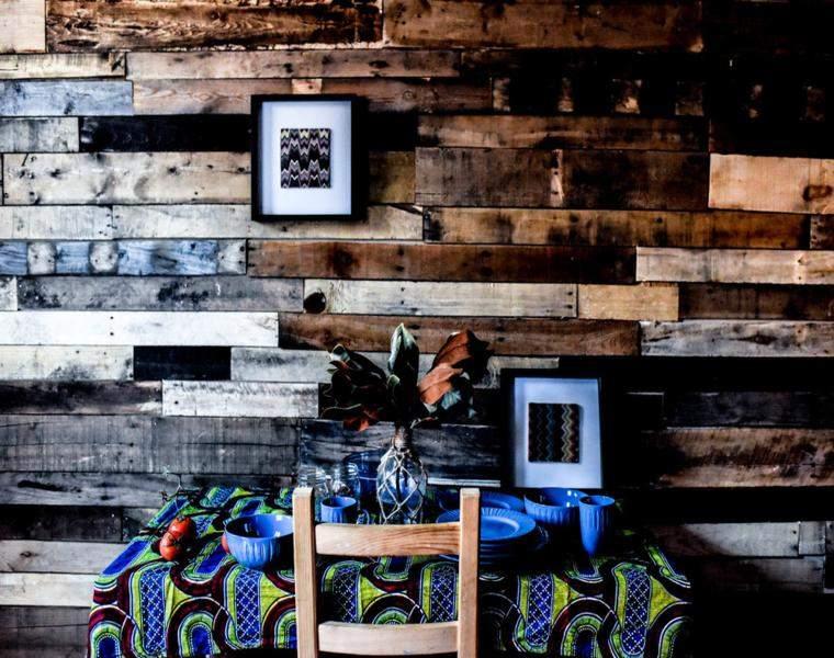 revestimiento de paredes comedor moderno