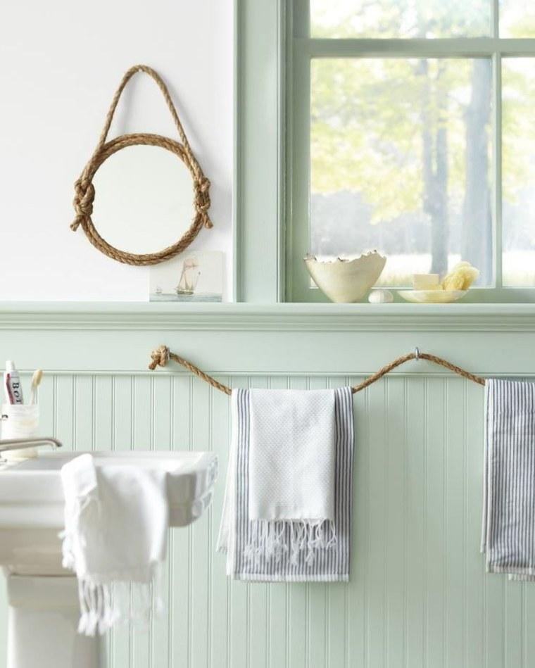 decorar baño cuerdas toallas