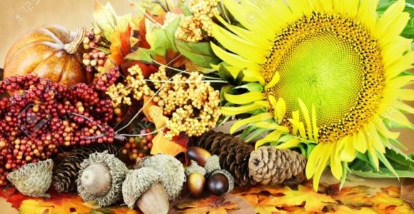Decoración con hojas secas para el otoño