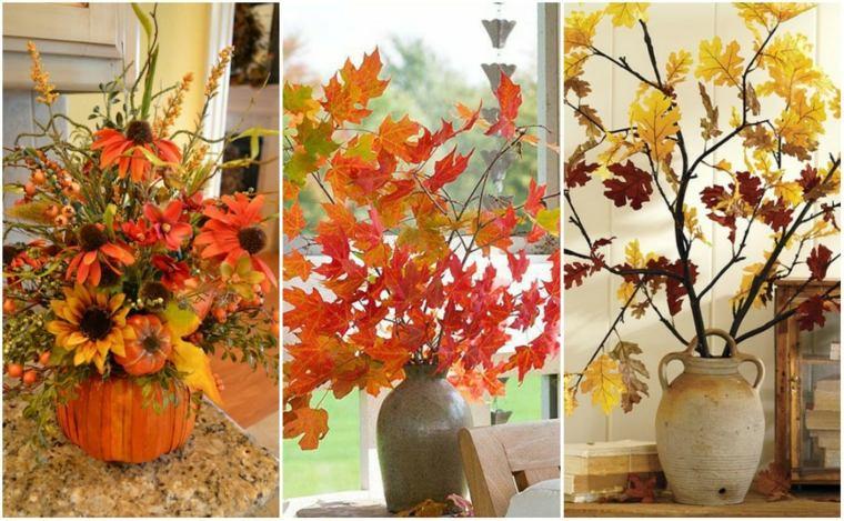 Decoracin con hojas secas para el otoo