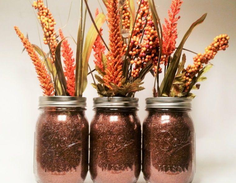 Decoraci n con hojas secas para el oto o - Plantas secas decoracion ...