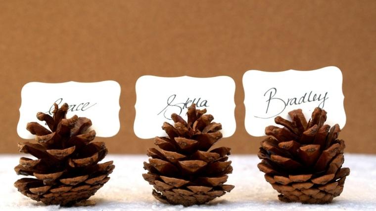 Decorar con pi as para un interior oto al - Adornos navidad con pinas ...