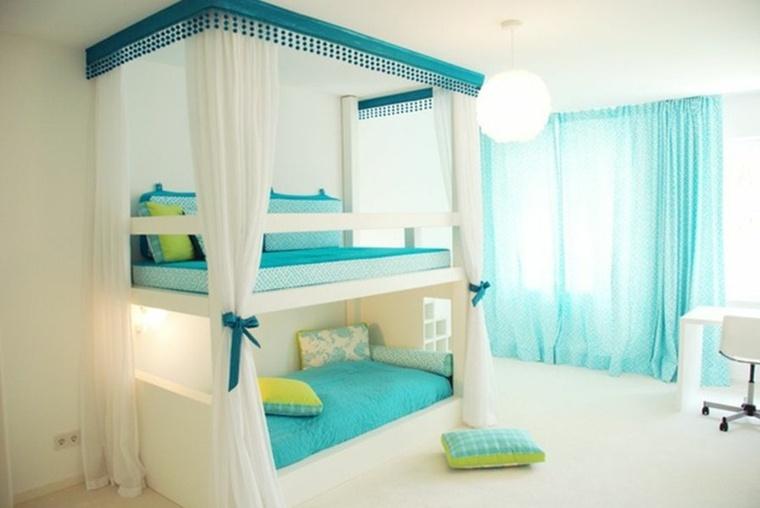 decoración de dormitorios juveniles azul