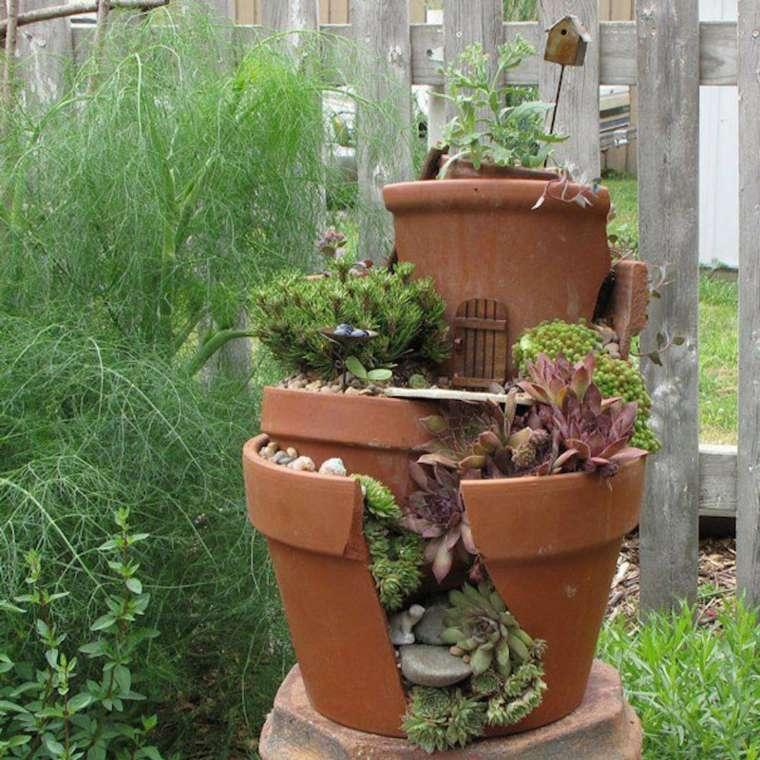 decoración de jardín escalonado