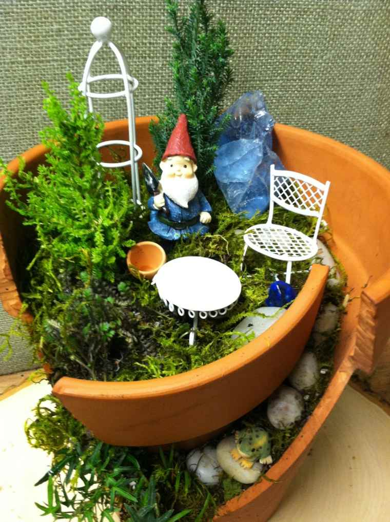 Decoraci n de jard n con mucho arte for Decoracion jardin macetas