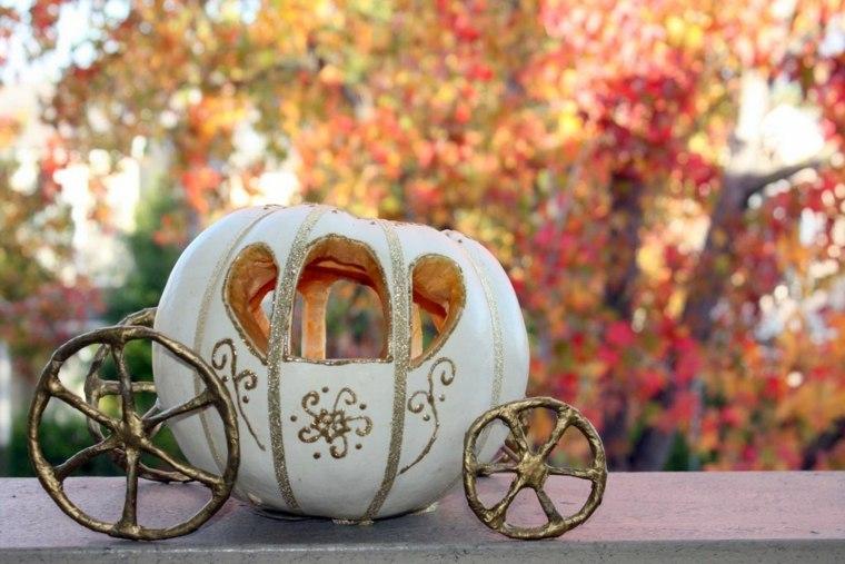 decoración de otoño calabazas