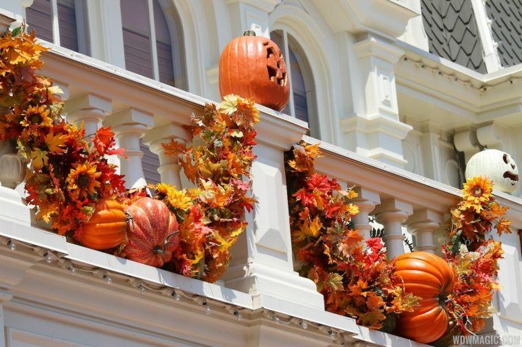 decoración de otoño terraza