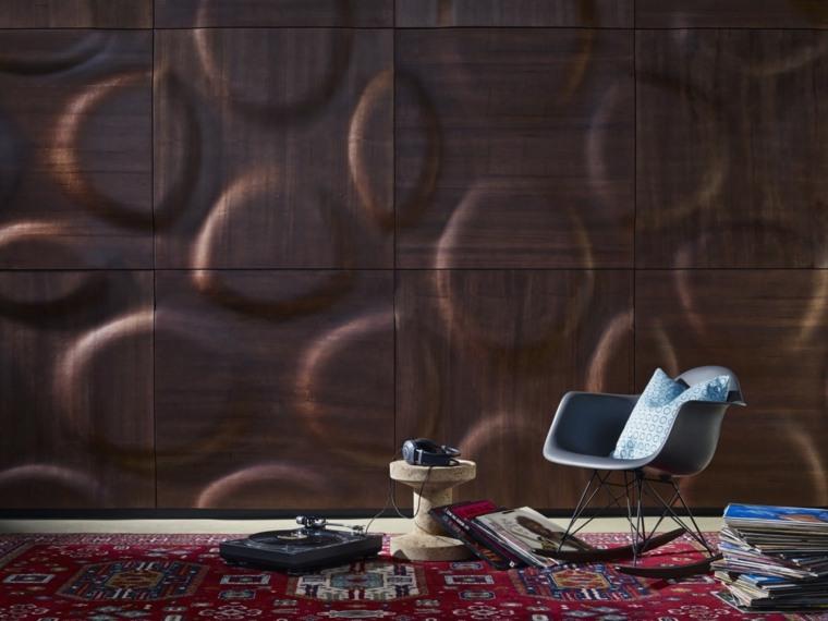 decoracion de paredes 3D diseno original madera imitacion ideas
