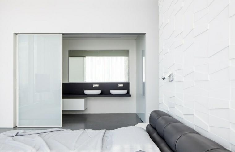 decoracion de paredes 3D dormitorio diseno pitsou kedem ideas