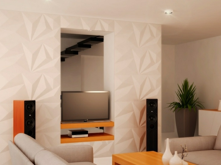 decoracion de paredes 3D espejo decoracion ideas